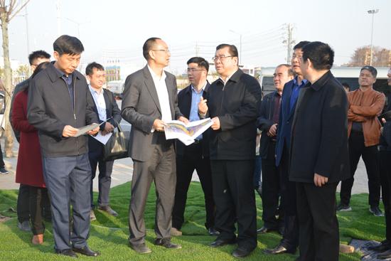 亳州市长杜延安考察亳州谯城万达广场项目