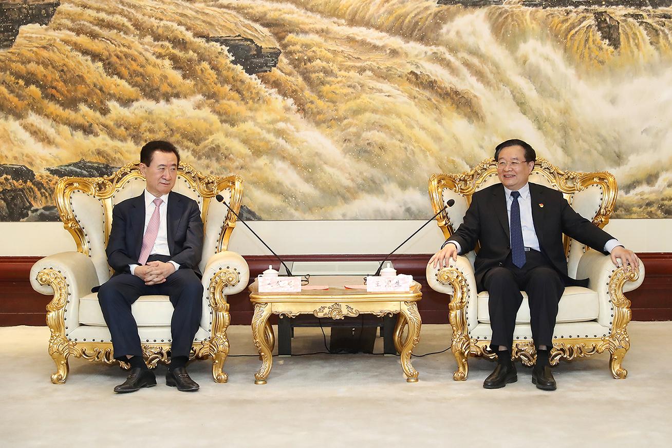 河南省委书记王国生会见王健林董事长