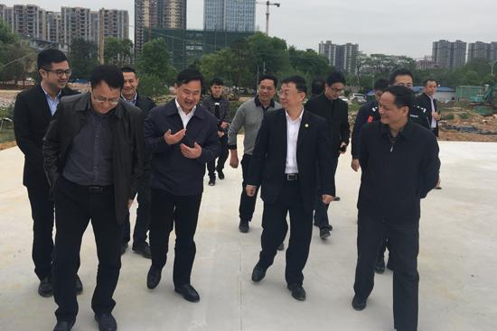 桂林市市长秦春成视察临桂万达广场项目