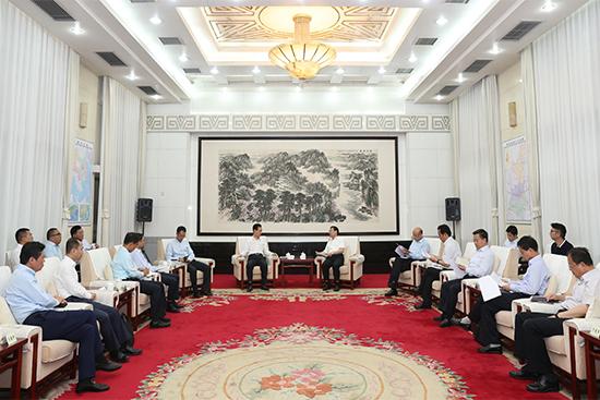 陜西省委書記胡和平、省長劉國中會見王健林董事長
