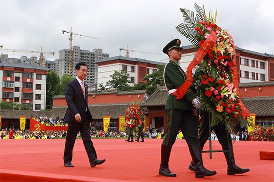 王健林董事长出席在甘肃天水举行的公祭伏羲大典
