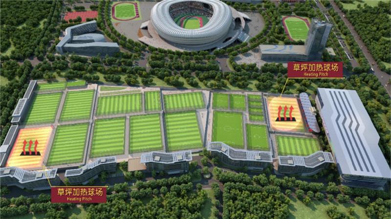 大连足球青训基地国内首个草坪地暖系统建成