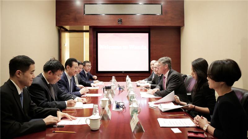 王健林董事长会见花旗集团全球CEO高沛德