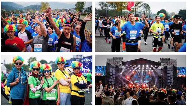 成都摇滚马拉松举行 1.56万跑者参赛