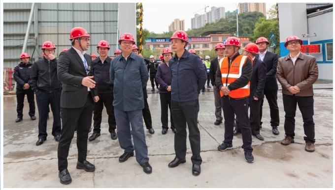 桂林市委书记赵乐秦调研临桂万达广场项目