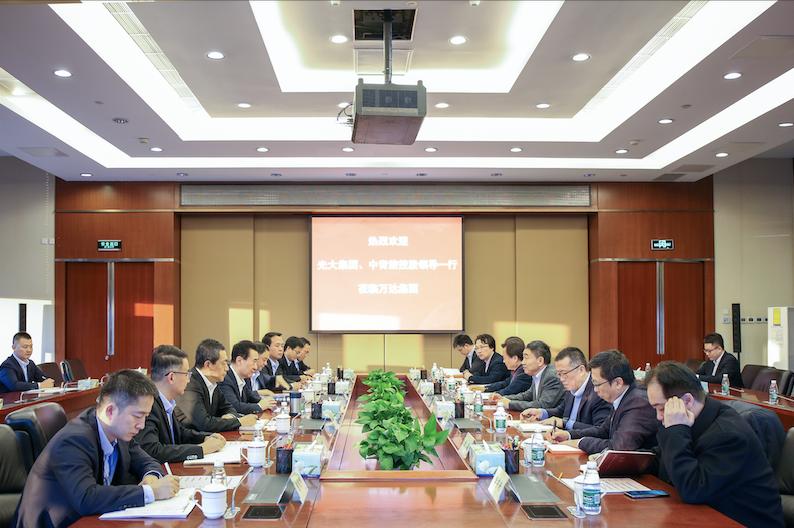 王健林董事长会见光大集团副总经理付万军和中青旅控股董事长康国明
