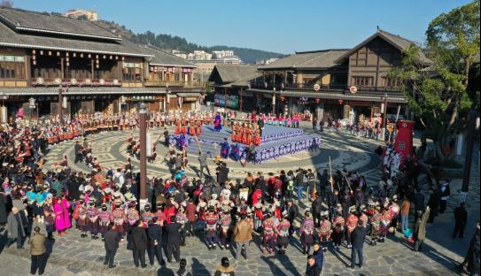 """第三届苗家""""祭尤节""""在丹寨万达小镇举行"""