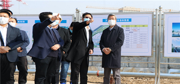 兰州市委书记李荣灿调研兰州万达城项目