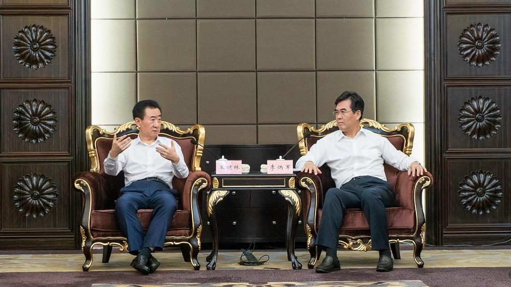 赣州市委书记李炳军市长曾文明会见王健林董事长