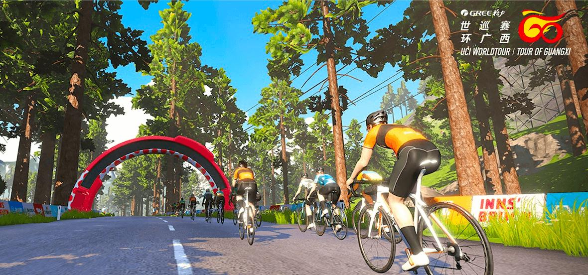 環廣西線上賽開賽  全程虛擬呈現環廣西賽道
