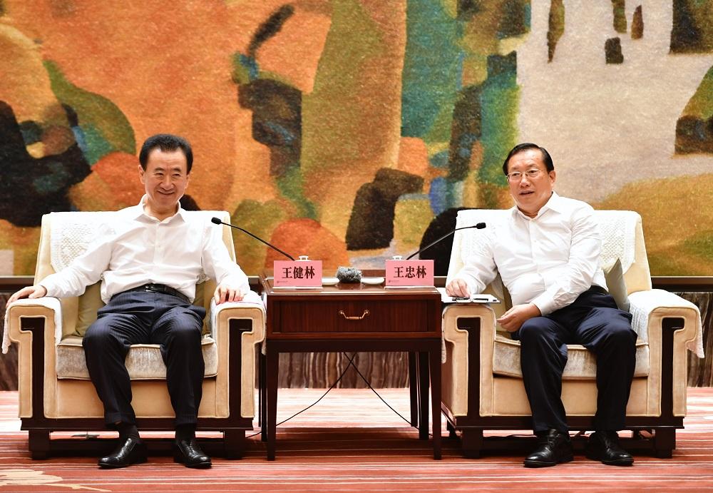 武汉市委书记王忠林市长周先旺会见王健林董事长