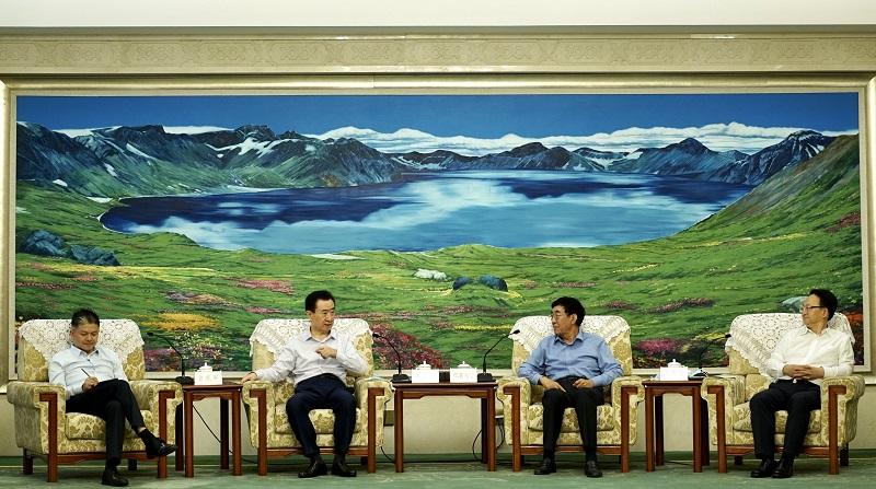 吉林省委书记巴音朝鲁省长景俊海会见王健林董事长