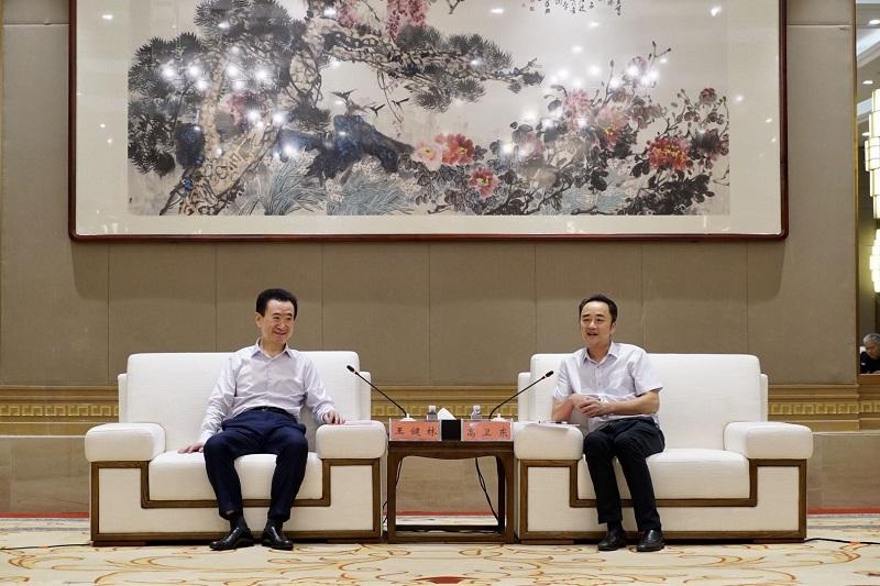 茅台yabo88董事长高卫东会见王健林董事长