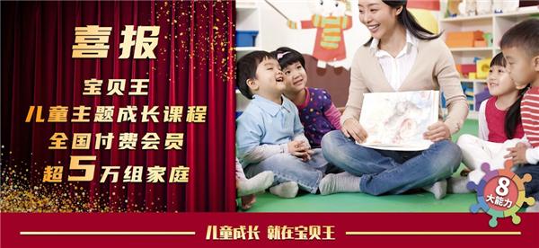 宝贝王儿童主题成长课程全国付费会员超5万