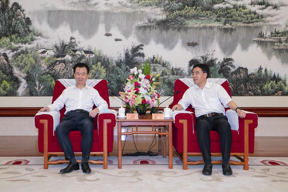 天津滨海新区区委书记连茂君会见王健林董事长