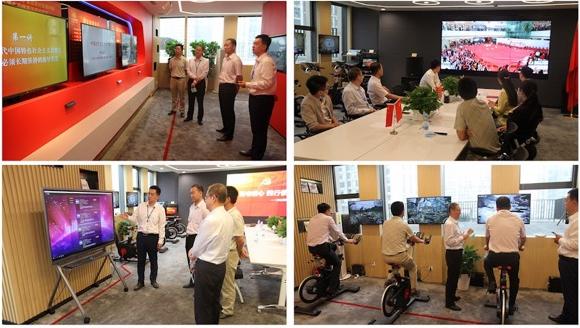 北京CBD商圈党建联盟参观集团总部党建共享中心