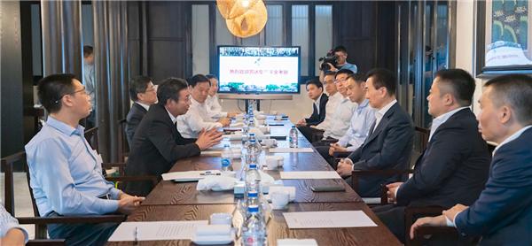 上海市金山区委书记胡卫国区长刘健会见王健林董事长