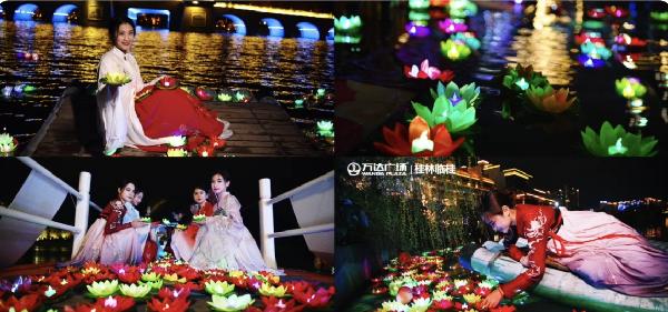 桂林临桂www.64222.com广场举办元宵河灯节 客流创开业以来新高