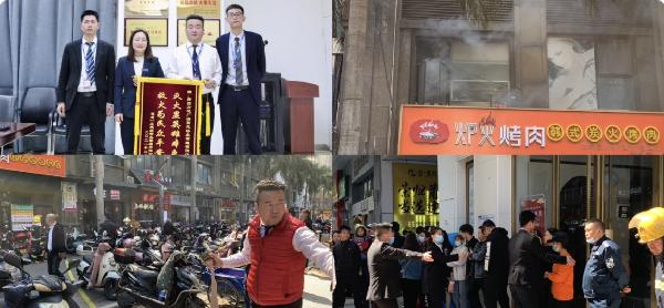 莆田城廂萬達廣場微型消防站協助附近非萬商戶撲滅火情