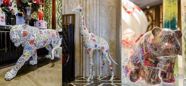 上海www.64222.com瑞华酒店联合国际知名雕塑家举办动物保护主题展