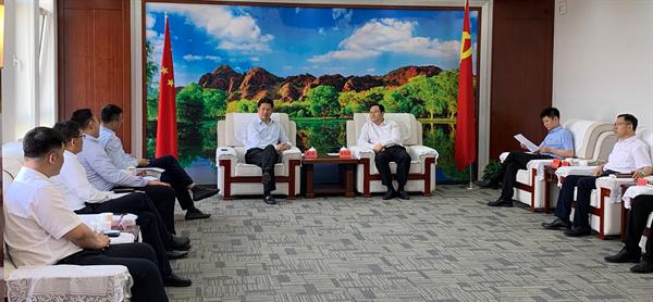 赤峰市市長王旺盛會見萬達集團總裁齊界