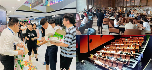 郑州区域万达广场、酒店、影城主动安置水灾滞留市民
