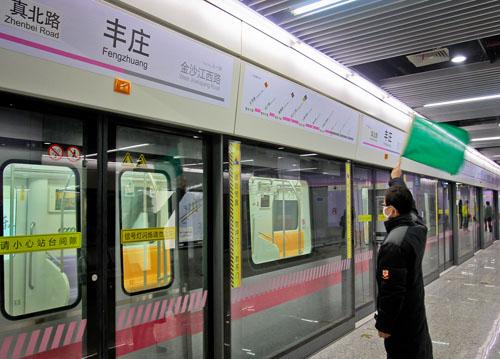 上海江橋萬達喜迎上海地鐵13號線順利開通