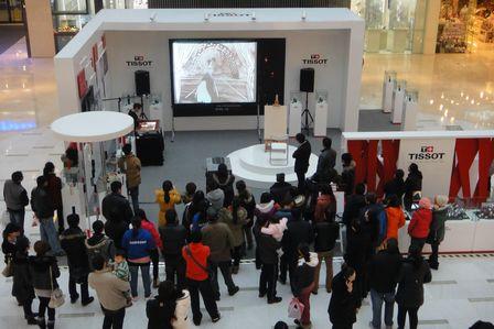 天梭沙畫藝術表演上海站在上海江橋萬達廣場啟幕