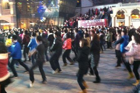 武漢中央文化區楚河漢街跨年千人快閃