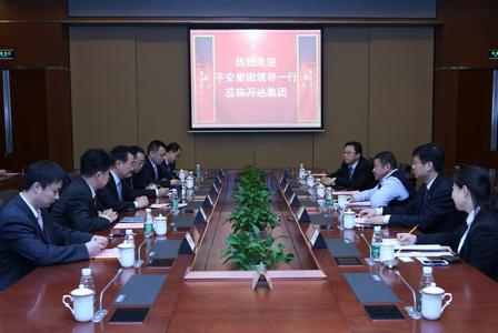 王健林董事长会见平安集团领导一行