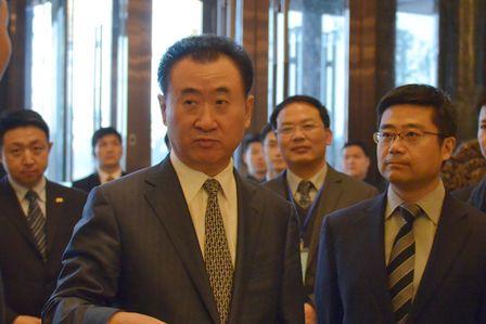 王健林董事長視察長沙萬達文華酒店及名仕會所