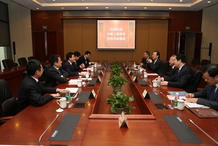 中建八局前董事長梁新向一行到訪集團總部