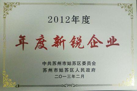 """蘇州平江商管公司被評為2012年度""""年度新銳企業"""""""