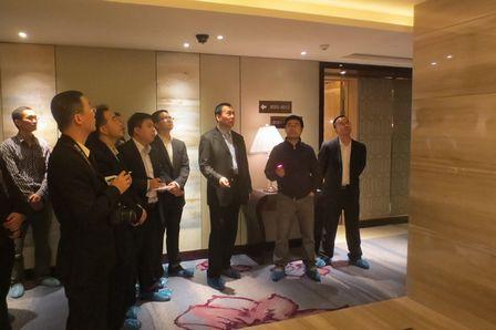 副總裁寧奇峰赴廣州增城萬達嘉華酒店項目檢查指導工作