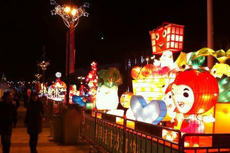 綿陽涪城萬達廣場2013新春時尚燈會開幕