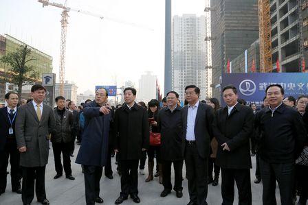 中部四省會領導參觀視察武漢中央文化區楚河漢街