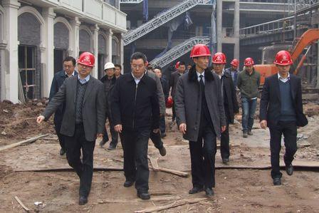 重慶市萬州區領導視察重慶萬州萬達廣場項目