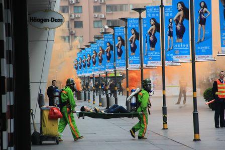 上海五角場萬達2013年度春季消防疏散演習舉行