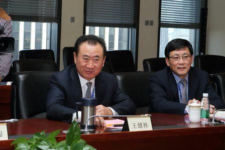 王健林董事長會見內蒙古烏海市委市政府領導一行