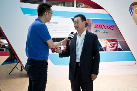 王健林董事长参观文博会万达展馆