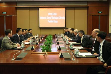 王健林董事长会见乔治华盛顿大学访问团