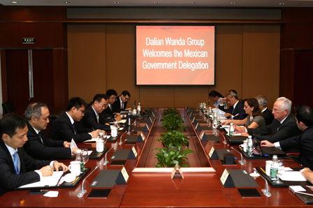 墨西哥政府代表團到訪萬達集團總部